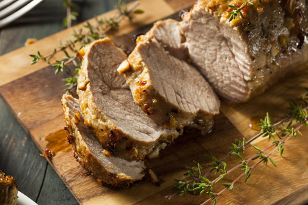 32918329 - homemade hot pork tenderloin with herbs and spices