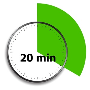 25523012 - clock face stopwatch on a white